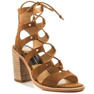 Dolce Vita Brown Lace Up Sandals